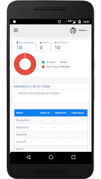 check in android app free attendance tracker and manager through mobile